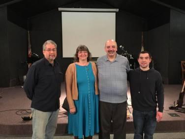 Eliezer Itara, Tracy Kriegbaum, Pastor Dominic Kriegbaum, Brandon Hulbert